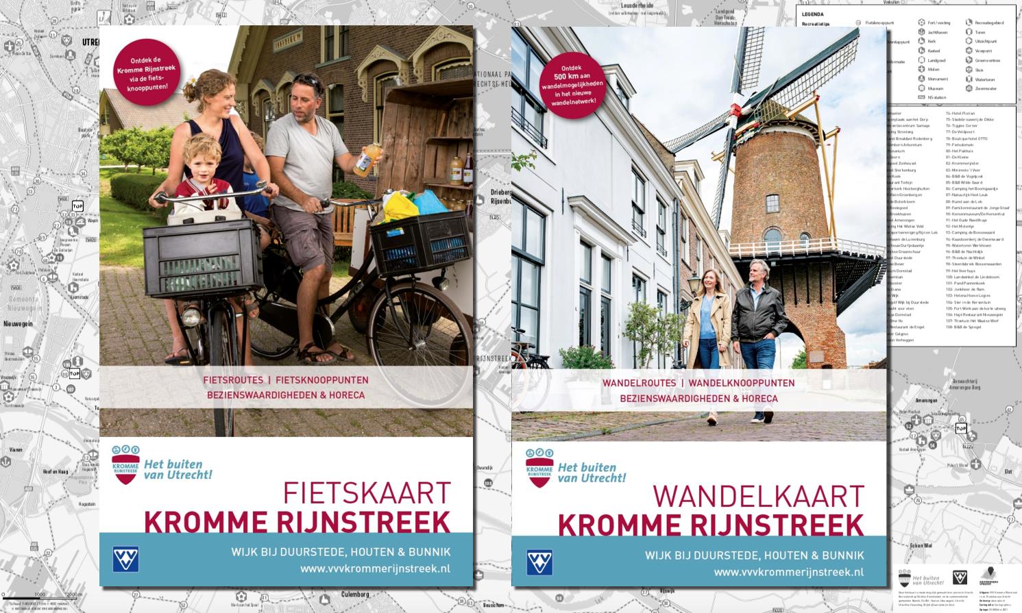 fiets-en wandelkaarten Kromme Rijnstreek