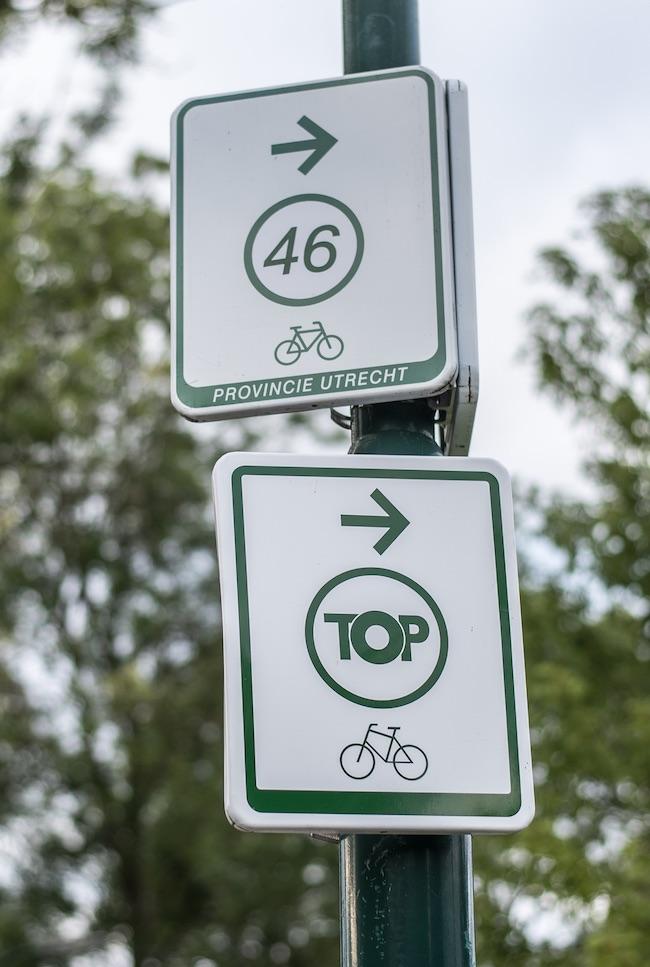 fietsknooppunt en TOP provincie Utrecht