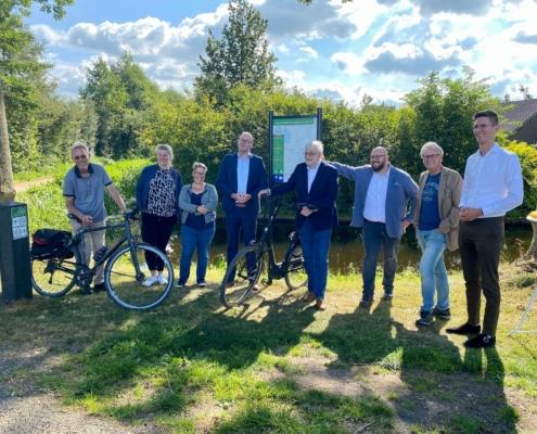 Opening fietsroutenetwerk door wethouders van Oudewater en Krimpenerwaard